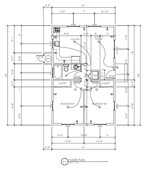 Floor Plans And Architectural Drafting Design Measurements